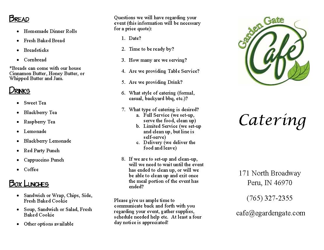 Catering - Page 1